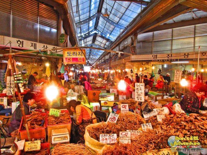 Chợ Gyeongdong ở Seoul, Hàn Quốc