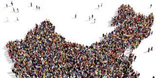 Đám đông xếp hình bản đồ Trung Quốc